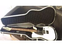 Squier Jim Root Telecaster Electric Guitar - Flat white. New hard case ..Slipnot