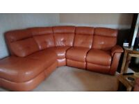 Leather suite and electric recliner chair