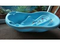 Disney mickey mouse blue Baby bath with anatomic bath support