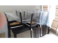 Ikea table and 6 chairs, 2 extra extentions