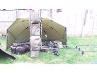carp fishing kit, full set up for sale