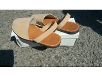 New. Menorcan slip on shoes brown size 5 or 38.