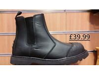 Grafters Defender Scuff Steel Toe Cap Safety Dealer Boots £39.99