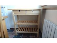 Butchers block kitchen trolley/table £35 ono