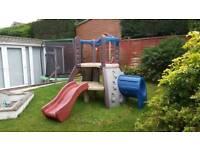 Little tikes double decker climbing frame slide