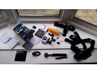 GoPro Hero 4 Black Edition With Accessories & Mounts + 64gb card