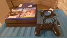 playstation 4 with 5 games (ps4)