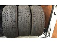 3x 225 50 17 tyres 6mm plus free fitting