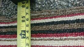 Striped carpet - 7ft 5 x 7ft 4