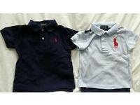 2 boys Ralph Lauren tops, 1 is big pony