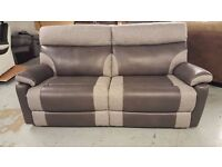 NEW ScS RALPH 3 SEATER MANUAL RECLINER SOFA GREY **Can Deliver**