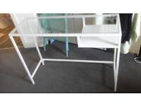 Ikea glass desk with shelf, £25