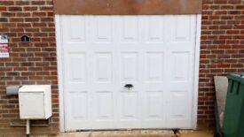 Horrman up and over garage door. White