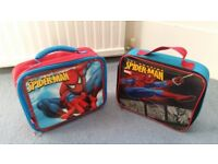 2 Spiderman Lunch Bags, Red and Blue, Tags, Good condition, Contact me soon as, Cheap BOTH for £5
