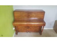D'ALMAINE 6 octave small upright piano Walnut