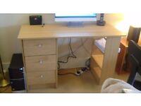 Computer desk, beech.