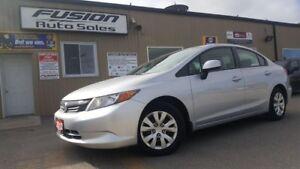 2012 Honda Civic LX-OFF LEASE HONDA FINANCIAL-LOADED