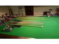 Full size professional snooker table 12ft x 6ft with all accessories for sale