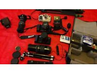 Canon cameras and Patterson dark room kit sale for
