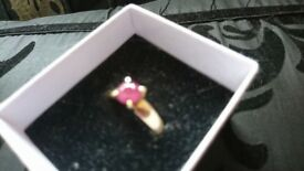 9ct Ruby Ring size Q