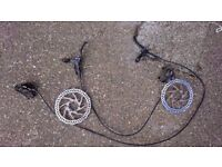 Complete set Tektro Draco hydraulic disc brakes brakeset upgrade sealed disk rotors Hope Hayes