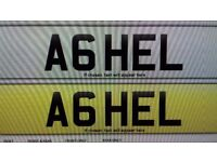 Chersished Number Plate