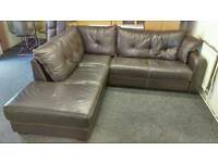 Corner sofa leather ( free delivery)