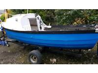 16ft Fishing Boat With Cab & Trailer