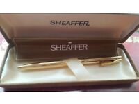 sheaffer gold electroplated ball point pen