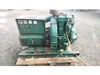 Lister twin cylinder key start diesel generator