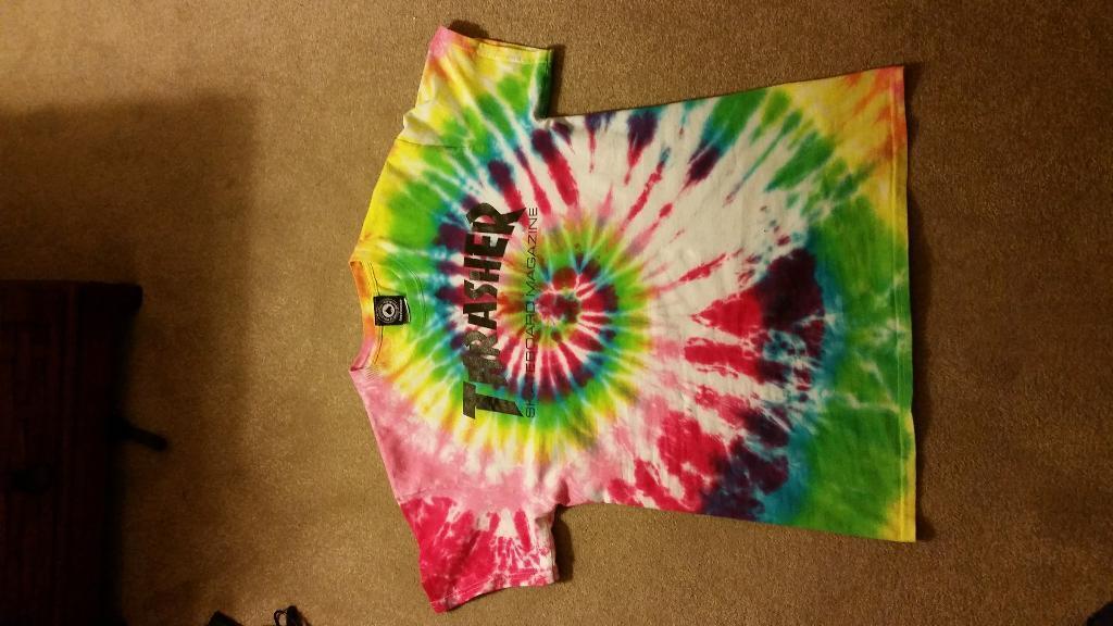 Thrasher t Shirt Tie Dye Thrasher Tie Dye t Shirt Size