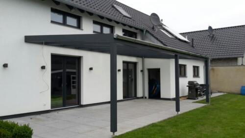 Holz U Alu Terrassenuberdachung Bausatz Terrassendach Vsg In