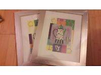 2 x Silver Picture frames