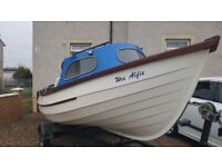 yorkshire pebble 16ft,2 engines,new depth,fish finder extras