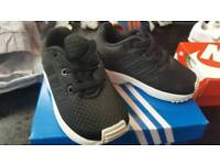 Adidas zx flux infant trainers size 4