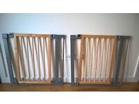 3 x Lindam Sure Shut Deco stair gates with fitting kits
