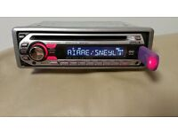 CAR HEAD UNIT SONY XPLOD CD MP3 PLAYER WITH USB AUX AND RCA 4 x 50 WATT STEREO AMPLIFIER RADIO