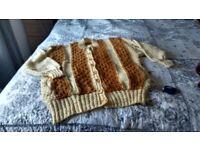 Hand knit ladies cardigan/jacket