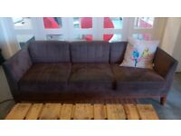 2x Brown Sofas - £50 FOR THE PAIR