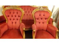 Reproduction 3 piece suite mahogany frame