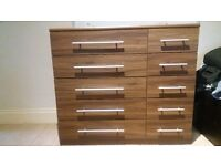 bedroom chest of draws and cabinet