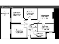 3 double bedroom flat 11/3 ferry road avenue