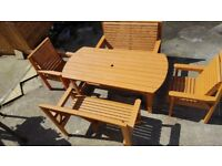 large garden table benches chairs