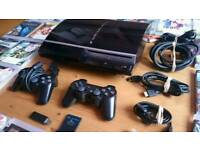 Sony Playstation 80Gb PS3 console bundle + 23 games!! 2 Sony controllers