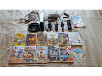 Nintendo Wii Black Edition with 1 controller and 12 games
