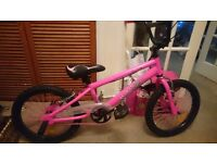 Girls pink bmx used handful of times