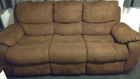 Harveys Westchester Faux-Suede 3 Seater Recliner Sofa