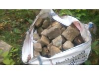 rockery stone bulk bag of rockery walling stone 1 tonne bulk bag abbey village