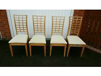 4 Dining Table Chairs FREE DELIVERY (02799)