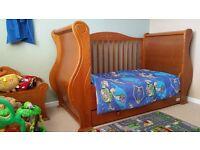 Tutti Bambini Marie Nursery Furniture in Walnut, Cot Bed, Wardrobe, Changer Unit, Toy Box and Shelf
